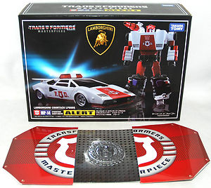 Transformers Masterpiece MP-14 Red Alert with coin
