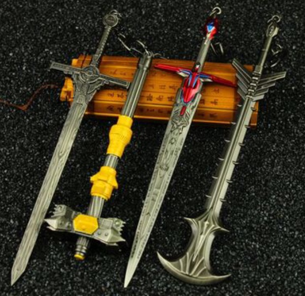 TF Movie 5 Metal Weapons set of 4