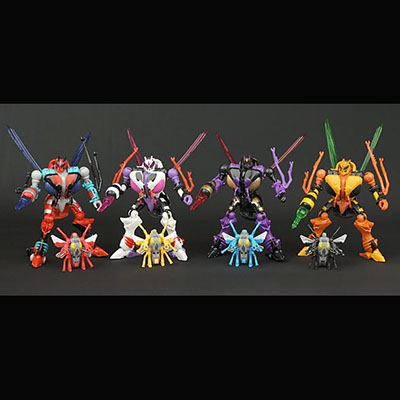 Transformers Botcon Waspinator redecoes Set of 4