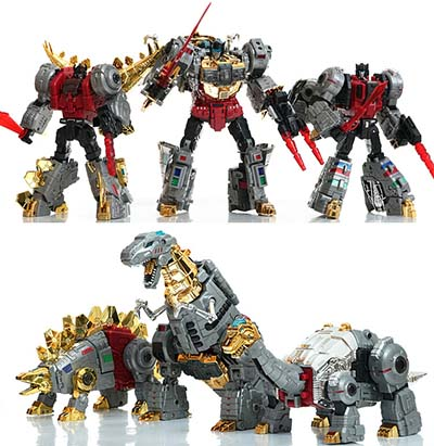 ToyWorld - TW-D01 02 03 ROAR+MUDDY+GRIMSHELL (no box packing)