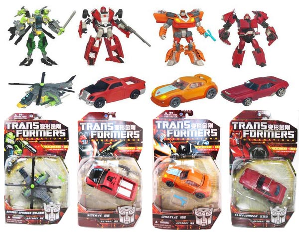 TRANSFORMERS GENERATIONS SWERVE WHEELIE CLIFFJUMPER SPRINGER ASI