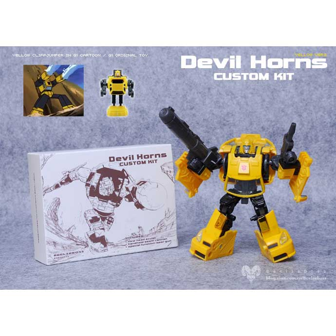 Beelzeboss Devil Horns Classic Yellow Cliffjumpers upgade Kit