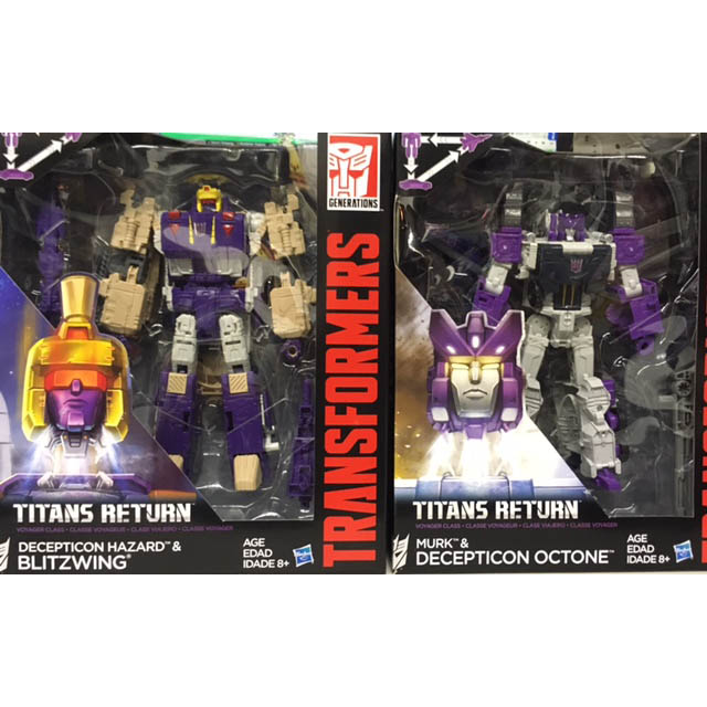 Hasbro Titans Return Voyager Octone & Blitzwing set
