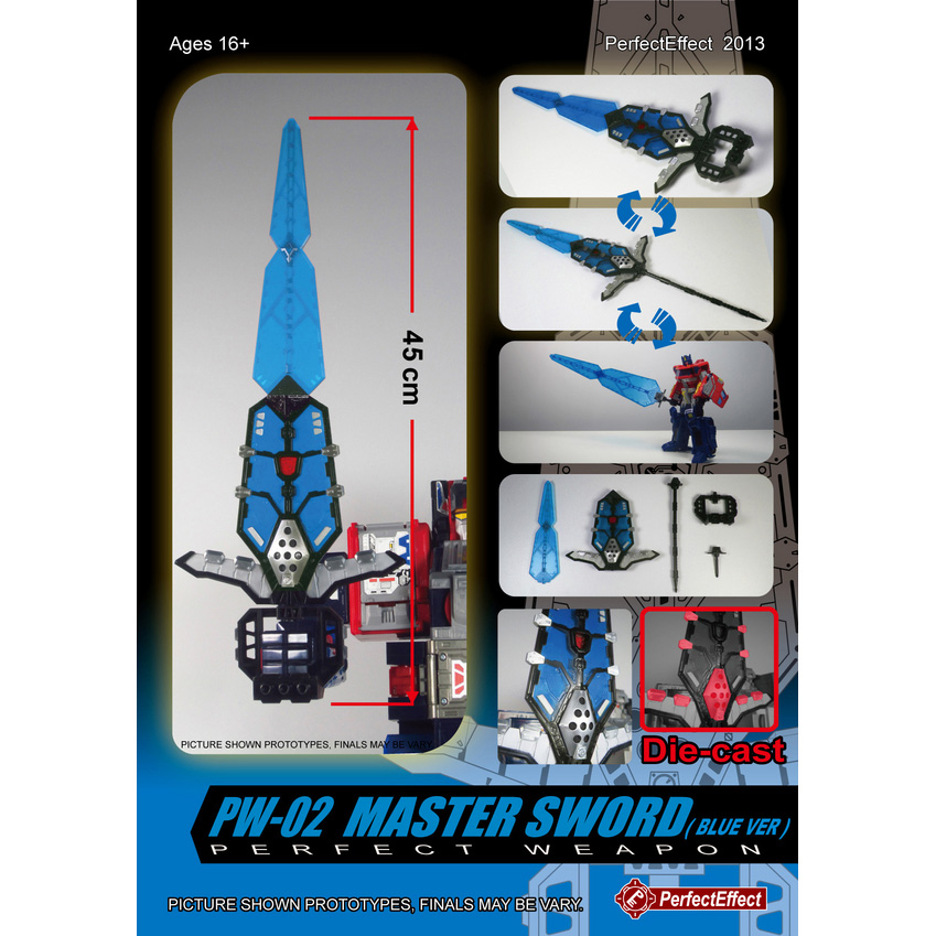 Perfect Effect PW-03 Blue Master Sword