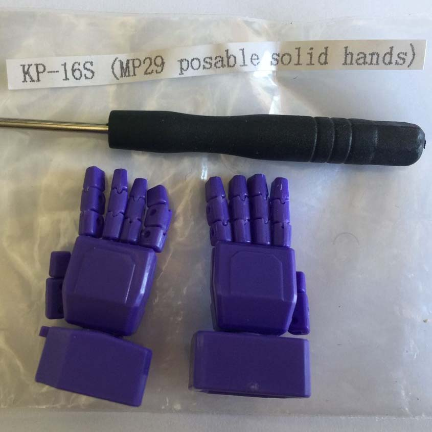 KFC KP-16 -Posable Hands for MP-29 Shockwave (Purple)