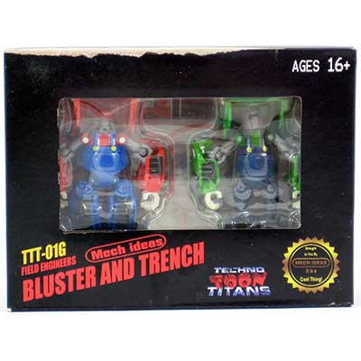 Mech Ideas Mech Ideas TTT-01G Bluster and Trencht  Mario TFcon E