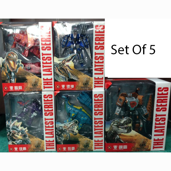 Dinosaur Robo Set of 5 (AOE Color BOX Packing )