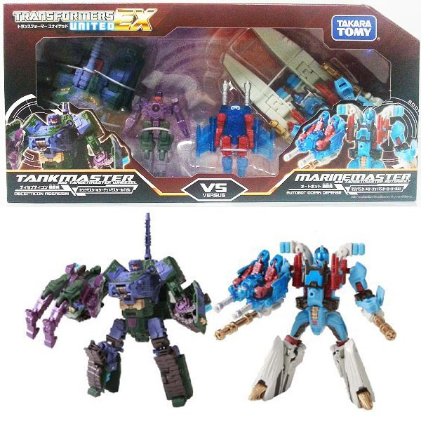 TRANSFORMERS UNITED EXP03 TANK MASTER VS MARIN MASTER