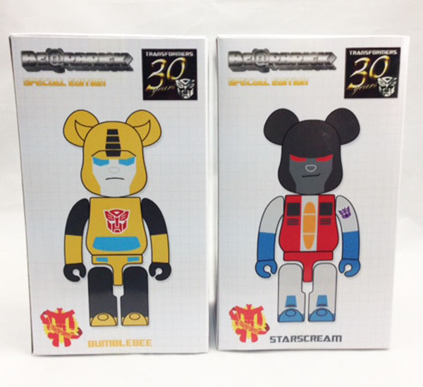 Transformers x BE@RBRICK - BUMBLEBEE & STARSCREAM