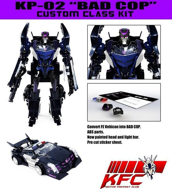 KFC Reveal Bad Cop Auto Assembly Exclusive Custom Class Kit