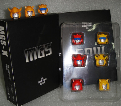 MGS-X 1.0 2.0 3.0 (Bee and Cliffjumper heads set)