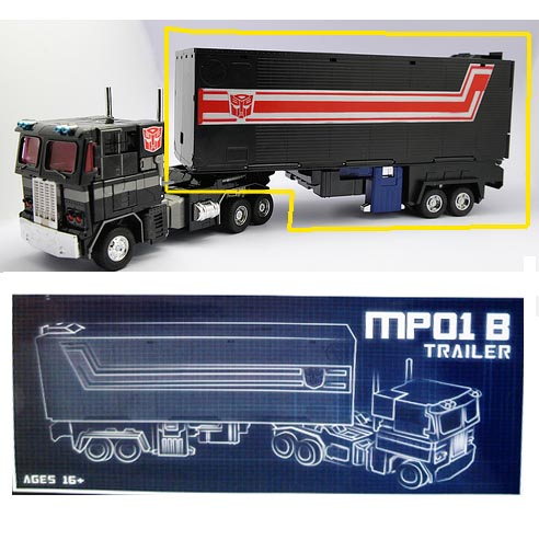 TRAILER with ROLLER for  MP01B Optimus Prime