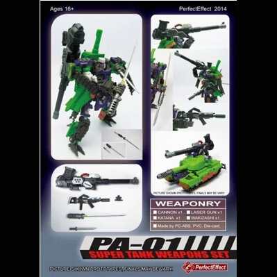 Perfect Effect PA-01 Super Tank Weapons Set