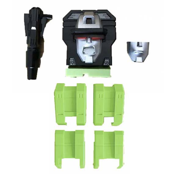 ToyWorld Constructor - G1 Replacement Head + Upper Leg (Green)