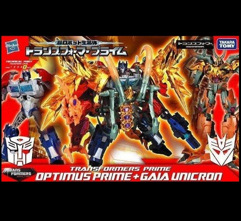 TakaraTomy nake Exclusive Optimus Prime and Gaia Unicron
