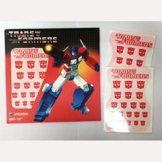 Transformers Logo Sticker Autobot (Water Decal)