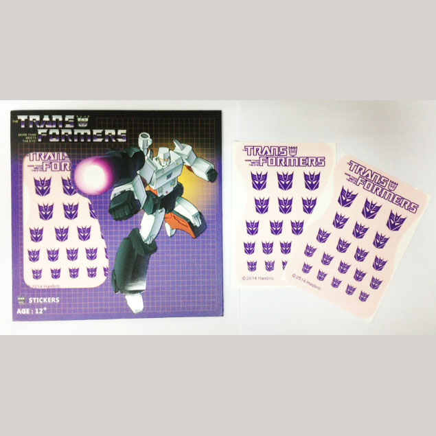Transformers Logo Sticker Decepticon(Water Decal)
