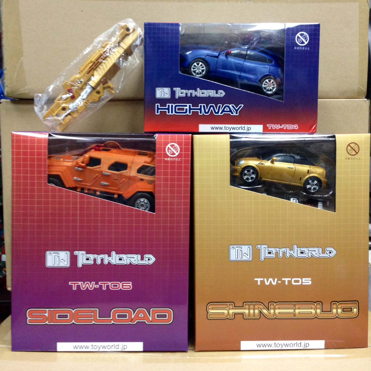 ToyWorld T030405 Expressway + Shinebug + Sideload + Cannon