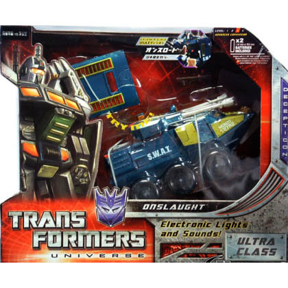 TRANSFORMERS UNIVERSE ONSLAUGHT G1 COLORS JAPAN EXCLUS