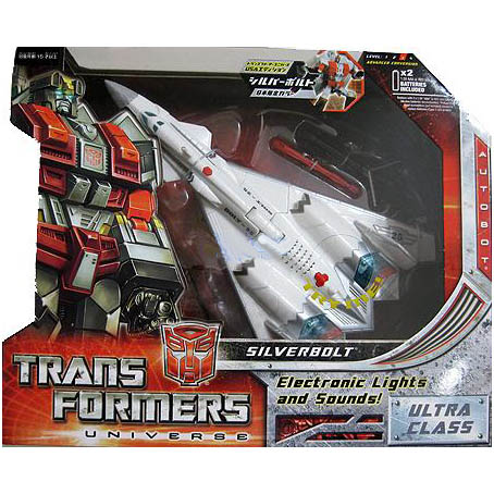 TRANSFORMERS UNIVERSE SILVERBOLT G1 COLORS JAPAN EXCLUS