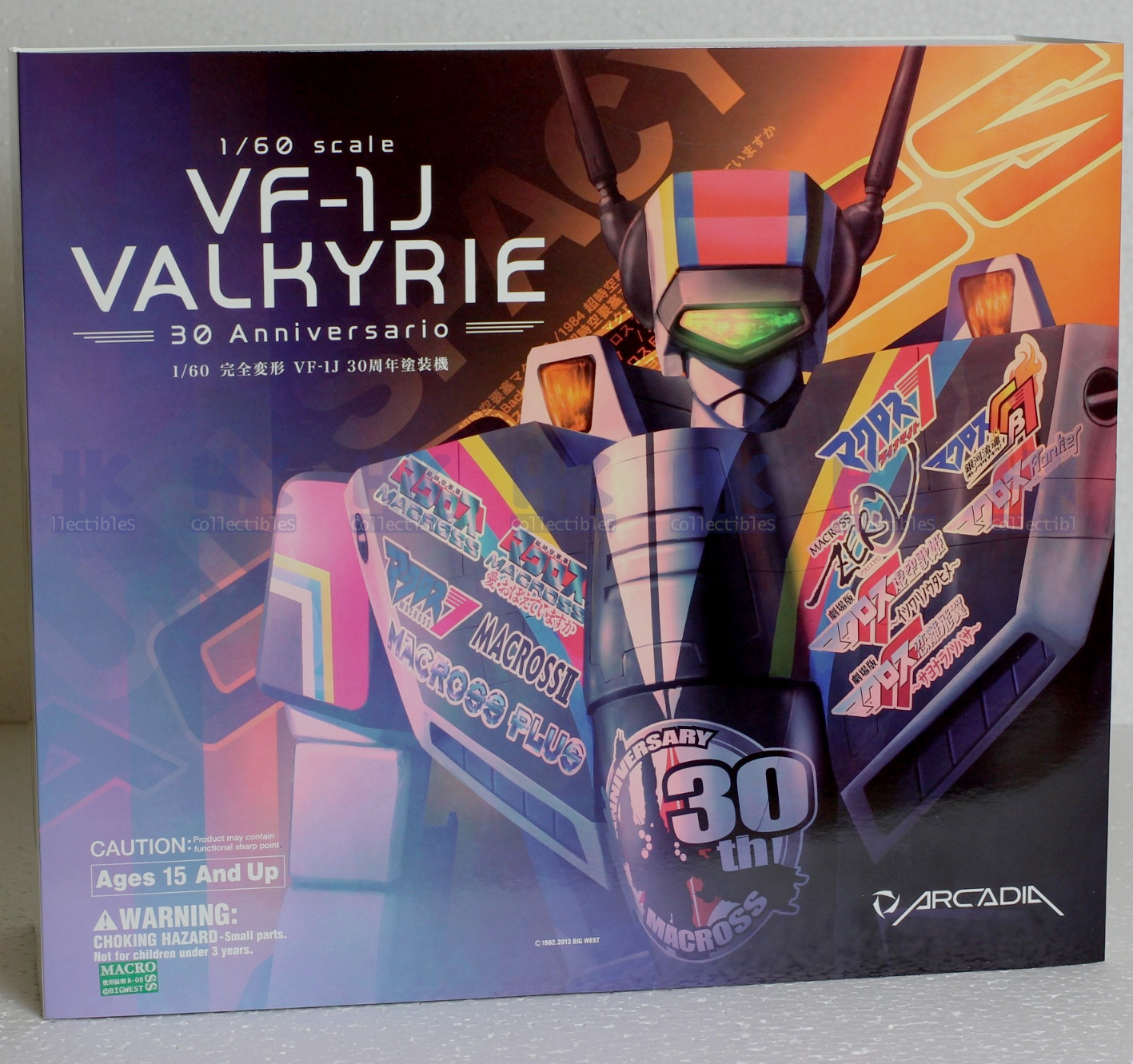 Arcadia 1/60 Macross VF-1J Valkyrie 30th Anniversary Edition Off