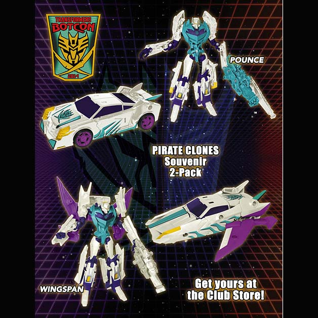 Transformers BotCon 2014 Pirate Clones 2-Pack