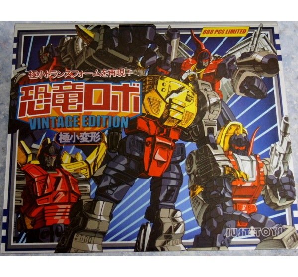 JUSTTOYS Smallest WST  Dinobot  Boxset  Metal ver (888 pcs limit
