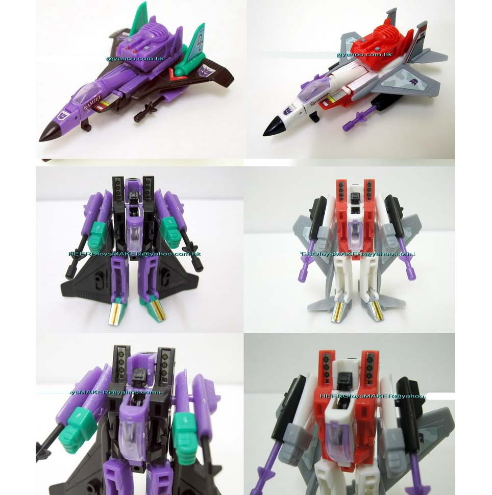 Smallest WST 2.5  Starscream  & Ramjet